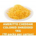 JG Ameritto Cheddar Colored Shredded 1kg (10 packs per carton)