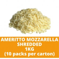 JG Ameritto Mozzarella Shredded 1kg (10 packs per carton)