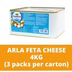 JG Arla Feta Cheese 4kg (3 packs per carton)