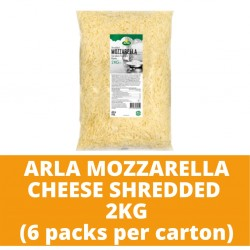 JG Arla Mozzarella Cheese Shredded 2kg (6 packs per carton)