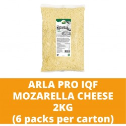 JG Arla Pro IQF Mozzarella Cheese 2KG (6 packs per carton)