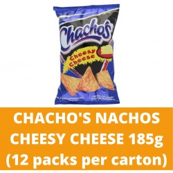JG Chacho's Nachos Cheesy Cheese 185g (12 packs per carton)