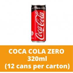 JG Coca-Cola Zero 320ml (12 cans per carton)