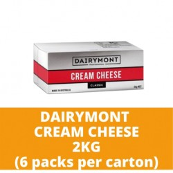 JG Dairymont Cream Cheese 2kg (6 packs per carton)