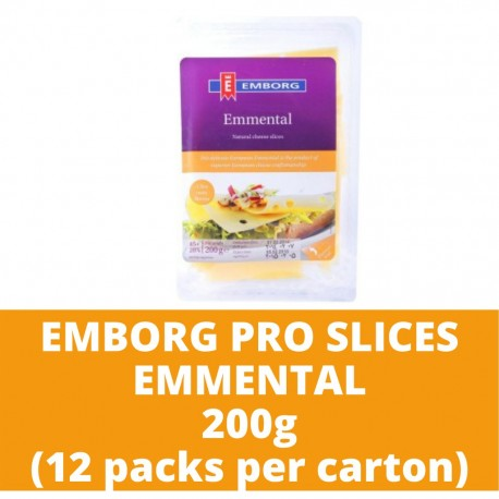 JG Emb Pro Slc Emmental 200g (12 packs per carton)