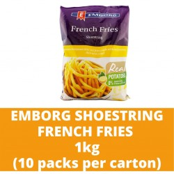 JG Emborg Shoestring French Fries 1kg (10 packs per carton)
