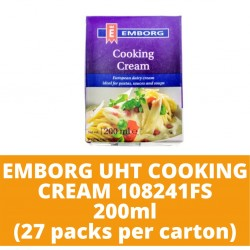 JG Emborg Uht Cooking Cream 108241Fs 200ml (27 packs per carton)