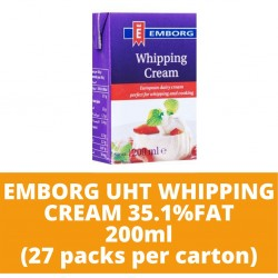 JG Emborg Uht Whipping Cream 27 35.1% Fat 200ml (27 packs per carton)