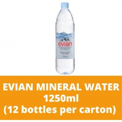 JG Evian Mineral Water 1250ml (12 bottles per carton)