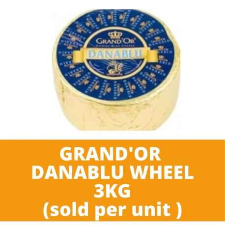 JG Grand'Or Danablu Wheel 3kg (sold per unit)