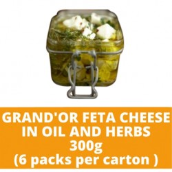 JG Grand'Or Feta Cheese In Oil and Herbs 300g (6 bottles per carton)