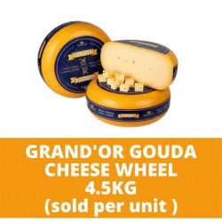 JG Grand'Or Gouda Cheese Wheel 4.5kg (sold per unit)