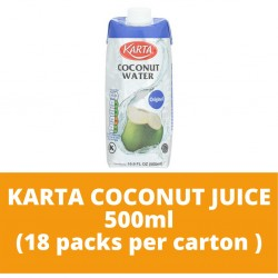 JG Karta Coconut Juice 500ml (18 packs per carton)