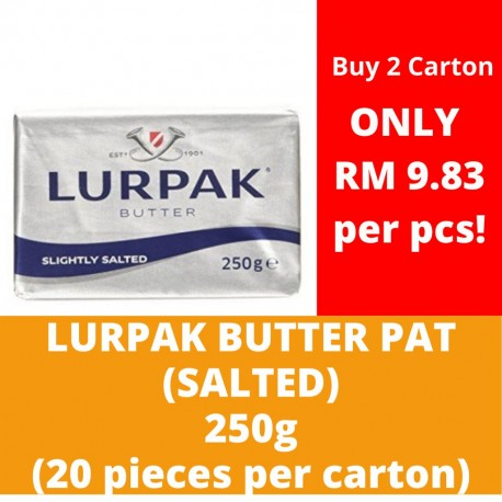 JG Lurpak Salted Butter Pat 250g (20 pieces per carton)