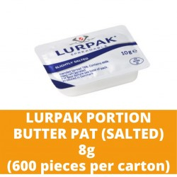 JG Lurpak Salted Portion Butter Pat 8g (600 pieces per carton)