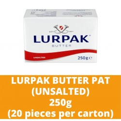JG Lurpak Unsalted Butter Pat 250g (20 pieces per carton)