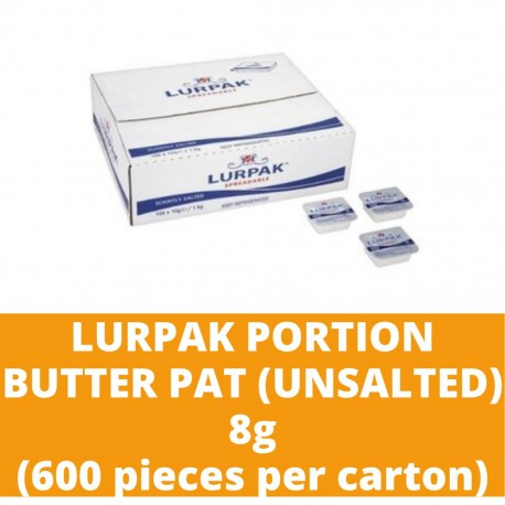 JG Lurpak Unsalted Portion Butter Pat 8g (600 pieces per carton)