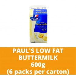 JG Paul's Low Fat Buttermilk 600g (6 packs per carton)