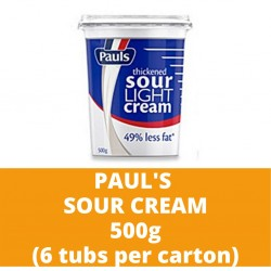 JG Paul's Sour Cream 500g (6 tubs per carton)