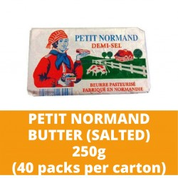 JG Petit Normand Salted Butter 250g (40 packs per carton)