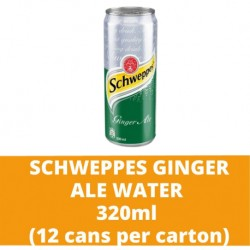 JG Schweppes Ginger Ale Water 320ml (12 cans per carton)