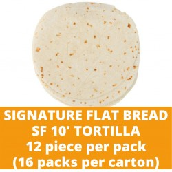 JG Signature Flat Bread Sf 10' Tortilla 12pcs (16 packs per carton)
