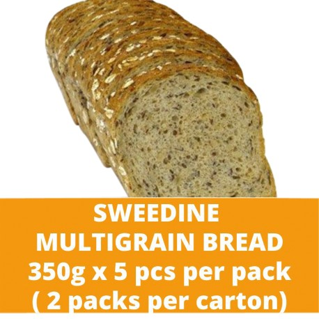 JG Sweedine Multigrain Bread 350g (5 pieces per pack) (2 packs per carton)