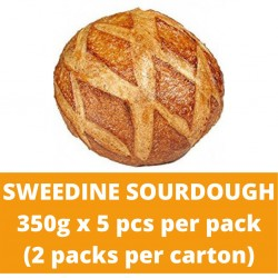 JG Sweedine Sourdough 350g (5 pieces per pack) (2 packs per carton)