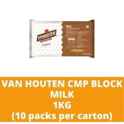 JG Van Houten Milk Compound Block 1kg (10 packs per carton)