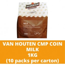 JG Van Houten Milk Compound Coin 1kg (10 packs per carton)