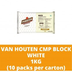 JG Van Houten White Compound Block 1kg (10 packs per carton)