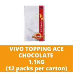 JG Vivo Topping Ace Chocolate 1.1kg (12 packs per carton)