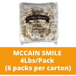 JG Mccain Smiley Fries 4lbs ( 6 packs per carton)