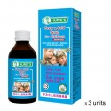Hurix's Fever and Cold Syrup for Children (Improved) (60ml x 3 Boxes)