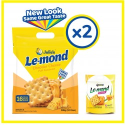 Julie's Le-mond Cheddar Cheese (288g x 2 packs)