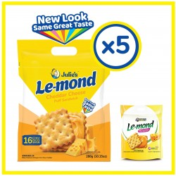 Julie's Le-mond Cheddar Cheese (288g x 5 packs)