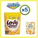 Julie's Love Letters Wafers Cheesy Duo (150g x 5 packs)