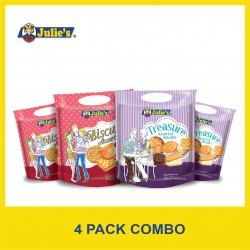 Julie's Assorted Biscuits Combo (285g x 4 packs)