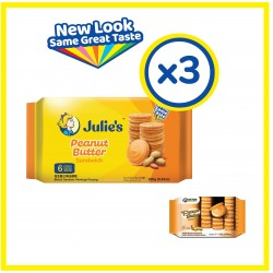 Julie's Peanut Butter Sandwich (180g x 3 packs)