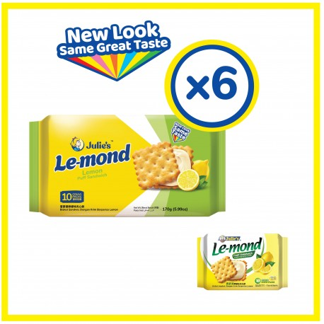 Julie's Le-mond Lemon Sandwich Biscuit (170g x 6 packs)