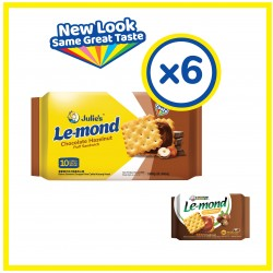 Julie's Le-mond Chocolate Sandwich Biscuit (180g x 6 packs)