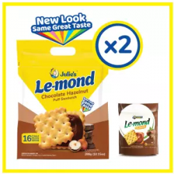 Julie's Le-mond Choc Hazelnut (288g x 2 packs)