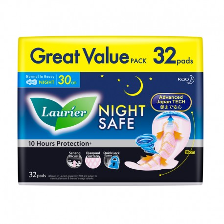 Laurier Night Safe Wing 30cm (32s)