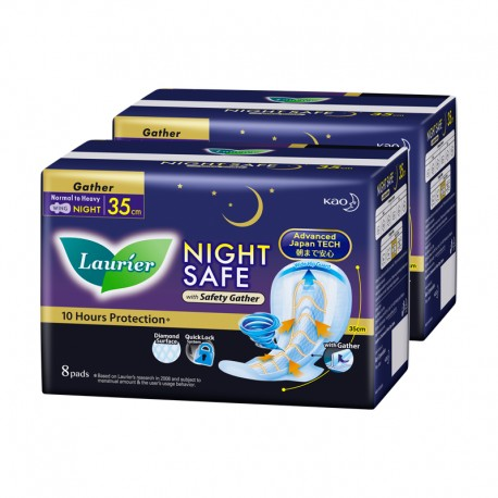 Laurier Nightsafe Wing with Gather Twin Pack 35cm (8s)