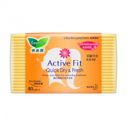 Laurier Pantyliner Active Fit Fresh Fruity Perfume (40s)