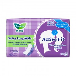 Laurier Pantyliner Active Fit Safety Long and Wide Non Perfume (40s)