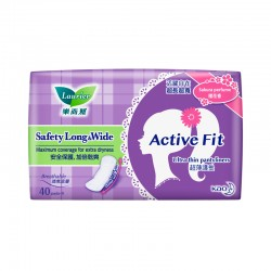 Laurier Pantyliner Active Fit Safety Long and Wide Sakura (40s)