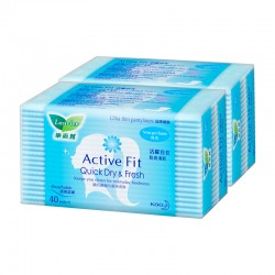 Laurier Active Fit Non-Perfume Twin Pack (40s)