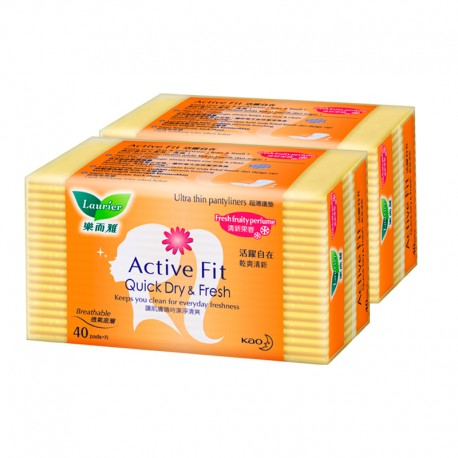 Laurier Pantyliner S Fruit Twin Pack (40s)