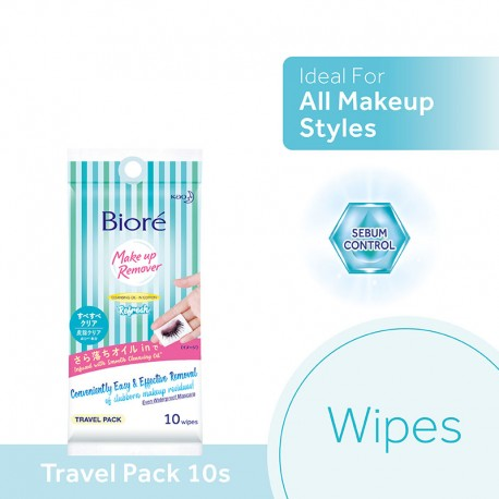 Biore Makeup Remover Wipes Travel Pack (10s) - Refresh